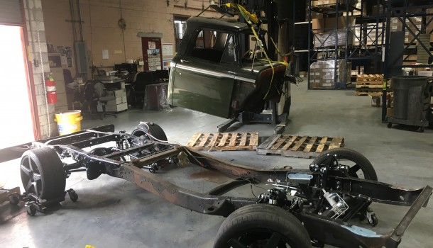 Truck Cab Removal and Test Fitting QA1 Suspension Kit